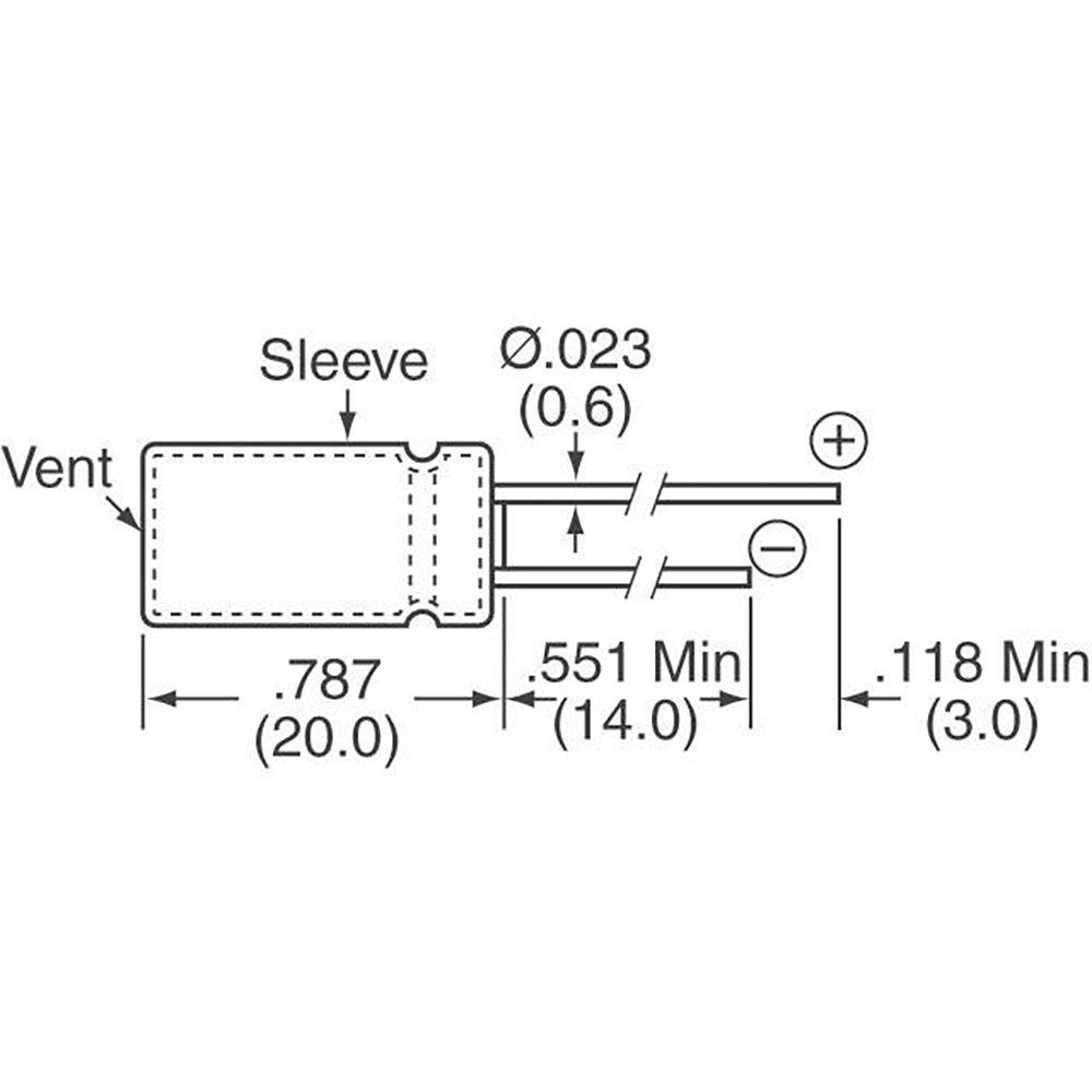 RADIAL 220UF 20/% 1 piece PANASONIC EEU-EB1J221 CAPACITOR ALUM ELEC 63V