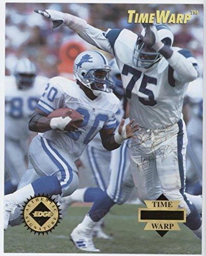 Collectors Autographed Edge Card (Deacon Jones; Barry Sanders #552/5,000 (Football Card) 1995 Collector's Edge - Time Warp - Giant Authentic Signatures [Autographed] #10)