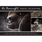 Vic Bearcroft's Pastel Velour Pad - Regular Black and Dark Grey (250mm x 350mm)
