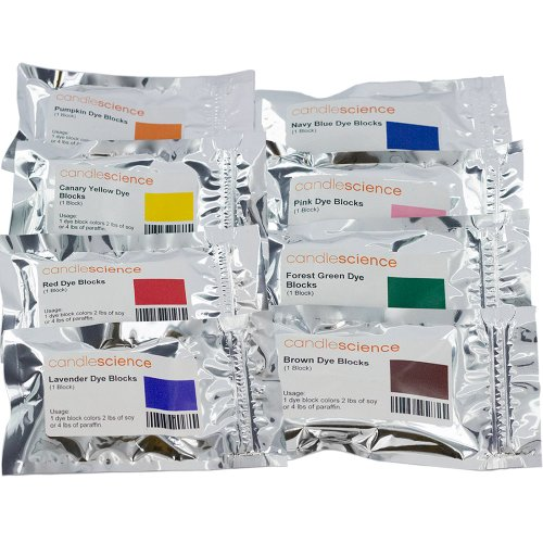 CandleScience Candle Dye Block Sample 8 Blocks Pack