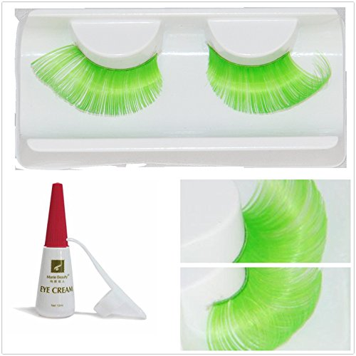 Beauty II Girl Fancy Dress Dance Party Makeup Multi-colored False Eyelashes Eye Lashes Extra Long Cosplay Christmas Halloween Costume Queen Holiday Fun Fake Eyelashes with Glue/Adhesive -