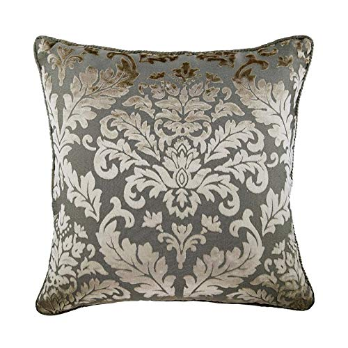 - The HomeCentric Luxury Grey Pillow Shams, Damask Pillow Shams, 24