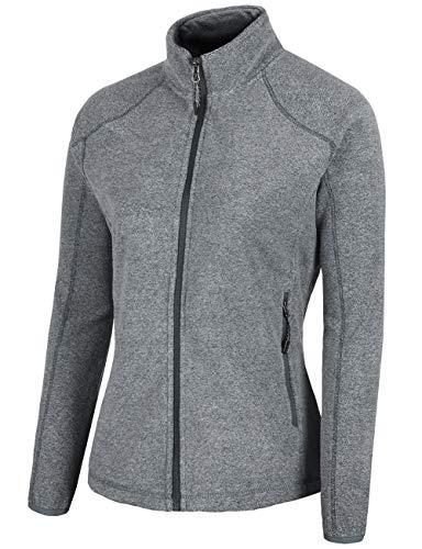 - Fastorm Womens Lightweight Fleece Jacket Solid Polar Thermal Fleece Jacket Sweater Grey L