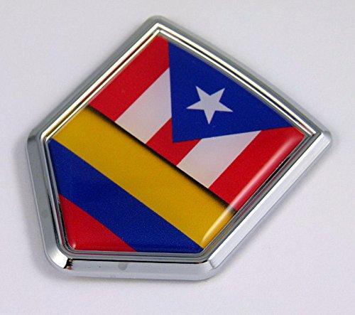 Flag Car Chrome Colombian Emblem 3D Decal Sticker Badge ()