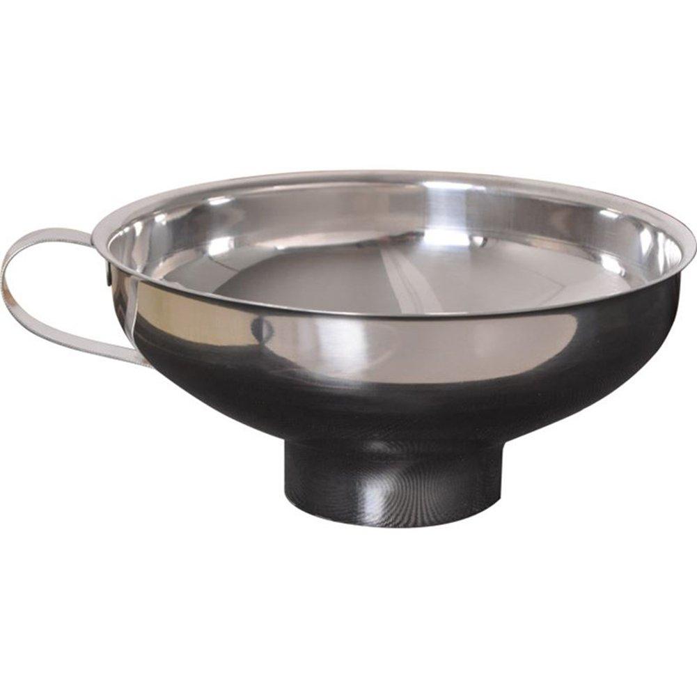 Qifumaer Edelstahl-Trichter Einfülltrichter mit Henkel Einfüllhilfe für Gläser Metall Einfülltrichter 10 cm Durchmesser Einfüllrohr 1,5 cm Einfüllhilfe Küchenzubehör size 2pcs
