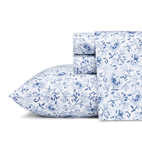 Laura Ashley Lorelei Cotton Sheet Set, Queen, 4 - Sheets Ashley Laura Cotton