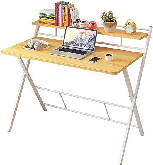BL Mesa de Escritorio para computadora portátil de 2 Niveles Mesa ...