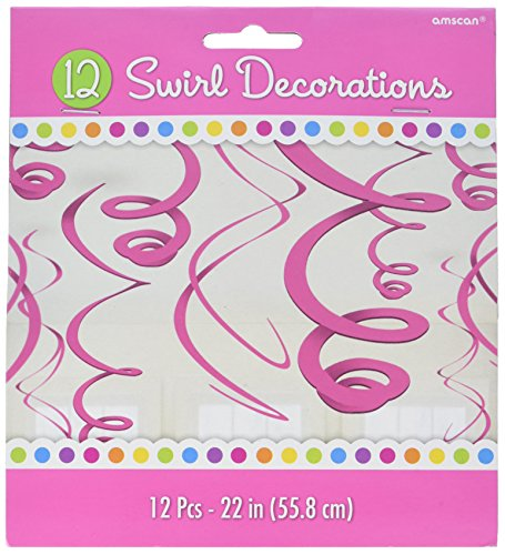 Party Stuff Online Costumes (Party Perfect Swirl Decorations, Bright Pink, Plastic, 22