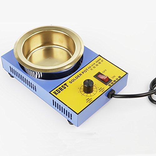 KDRST-310 Solder Pot Titanium Melting Soldering Tin Furnace for Iron Solder AC120V 300W 100MM