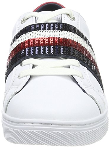 V1285enus Hilfiger 20a1 Sneakers Femme Blanc White Tommy Basses BHxf45qfw