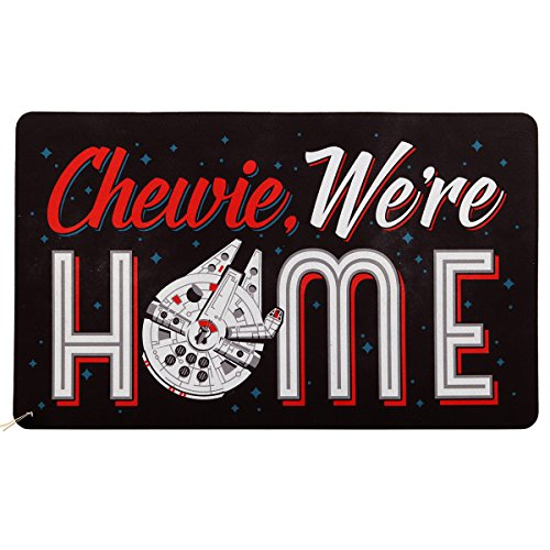 - Open Road Brands | Vintage Retro Decor - Chewie We're Home Door Mat - Great for Porches, Man Caves, Garages, and Home Decor