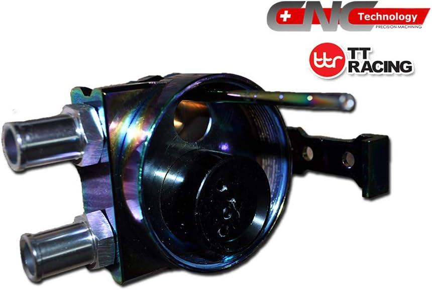 0.5L Aluminum Car Oil Catch Tank Can Reservoir Breather Black Air Filter 19mm