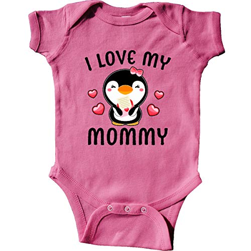(inktastic - I Love My Mommy with Cute Infant Creeper 6 Months Raspberry 3430d)