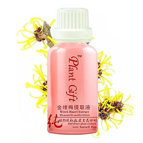 Plant Gift - Witch Hazel Extraer-No causa la piel seca y el efecto de curar heridas-10ML/30ML-0.35oz/1.06oz: Amazon.es: Belleza