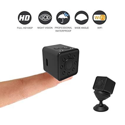Amazon.com : SQ13 Mini Camera cam WiFi SQ13 rcamara espia 1080P HD Waterproof Camera espion Ferromagnetic Micro Camera (Black) : Camera & Photo