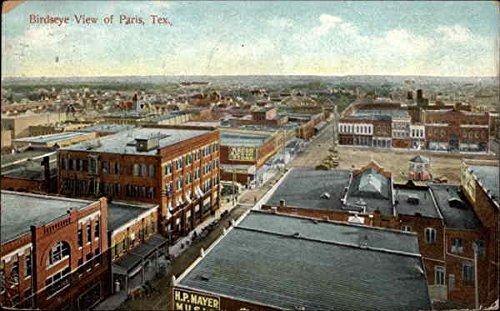 View Postcard Birdseye (Birdseye View Paris, Texas Original Vintage Postcard)
