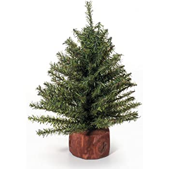 Mixed Pine Tree with Wood Base - 106 Tips - 9 inches