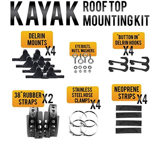 Quick Fist 90065 Kayak Roof Top Mounting Kit by Quick Fist