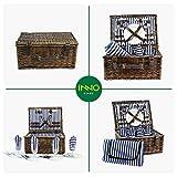 INNO STAGE Wicker Picnic Basket for 4, Picnic Set