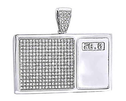 4 Ct Round Cut White CZ Hip Hop Digital Scale Men's Pendant in 14K Sold Over Sterling Sliver by wishrocks