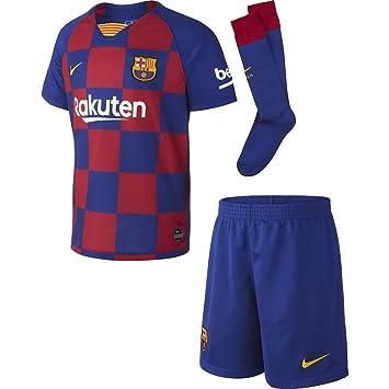 new style baa63 62c61 Nike 2019-2020 Barcelona Home Little Boys Mini Kit: Amazon ...