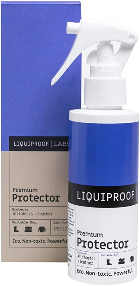 Liquiproof LABS Premium Protector Spray 125ml - long lasting waterproof and stain protection for leather, suede, nubuck, sheepskin and fabrics. For use on shoes, handbags, trainers, boots, clothes etc: Shoes