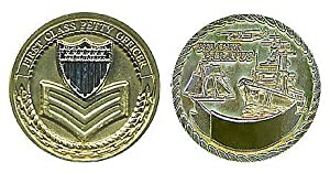 US Coast Guard 1st Class Petty Officer Challenge Coin from Military Productions