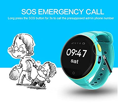Amazon.com: Latest ZGPAX S668 GPS Smart Watch Life Waterproof Round Screen Android Wristwatch GPS SOS Remote Monitoring For Kid Old Man Smart Phone (BLACK): ...