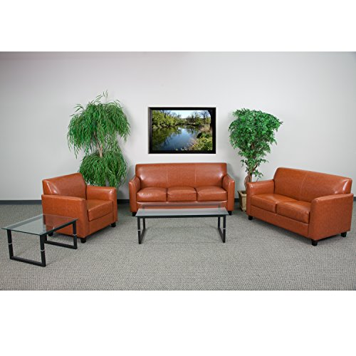 Flash Furniture HERCULES Diplomat Series Reception Set in Cognac