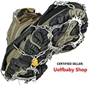 Crampons Universal Flexible Anti-Slip Ice Grips Snow Traction Cleats Ice Spikes Crampon Stainless Steel Chain