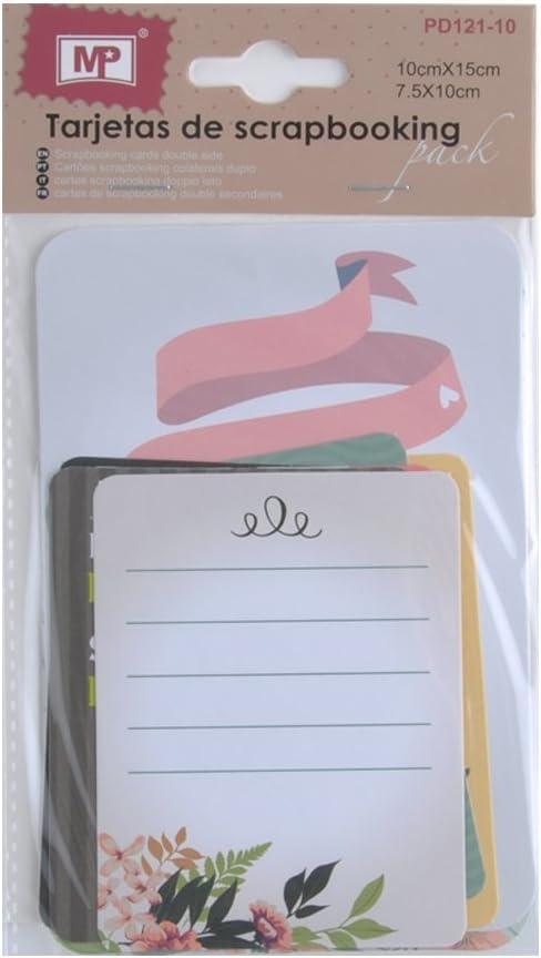 MP PD121-10 - Pack de 12 tarjetas de scrapbooking: Amazon.es: Oficina y papelería
