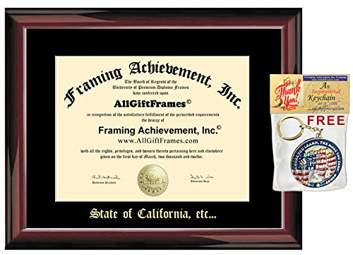 (AllGiftFrames Professional State License Real Estate License Agent Broker Certificate Licensing Frame Embossed Personalized Glossy Traditional Mahogany Realtor Gift Licensure Embossing)
