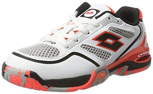 Lotto Raptor Evo Ii Jr, Zapatillas de Tenis Unisex Bebé Blanco / Negro (Wht / Blk)