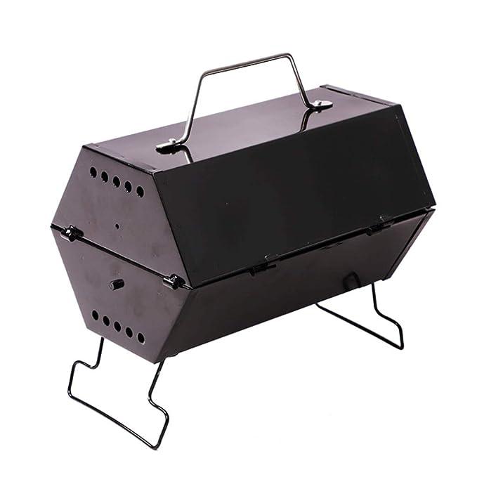 HY Barbacoa Mini Exterior Carbón Vegetal 2 Hogares 3-5 ...