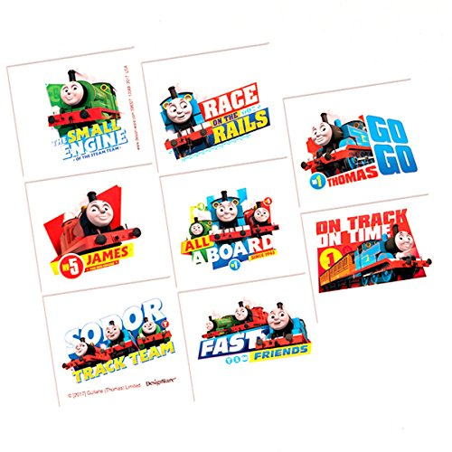 Thomas the Tanks Engine Trains Childrens Birthday Party Loot Favor Tattoos