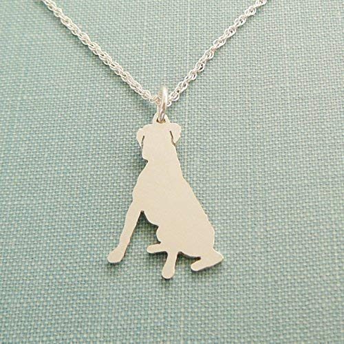 .925 Sterling Silver Boxer Dog Necklace