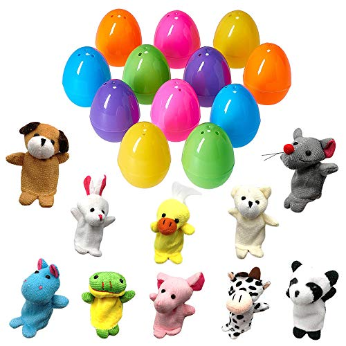 (Toy Filled Easter Eggs, Filled Finger Puppets Bright Colorful 2.5