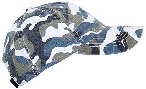 - Mega Cap MG Unisex Unstructured Ripstop Camouflage Adjustable Ballcap - Blue Camo