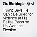 Trump Says He Can't Be Sued for Violence at His Rallies Because He Won the Election | Avi Selk