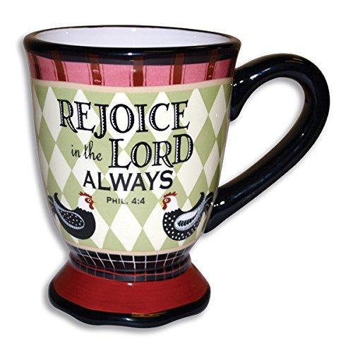 Divinity Boutique 23727 Rooster Ceramic Coffee Mug, Multicolor