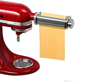 1 PCS Pasta Roller Attachment for Kitchenaid Stand Mixers, Stainless Steel Dough Roller Accessory, Universal Pasta Maker Machine , Including Cleaning Brush