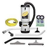 Mochila de vacío ProTeam 10 Quart LineVacer Mochila HEPA Vacuum con kit de herramientas de remediación