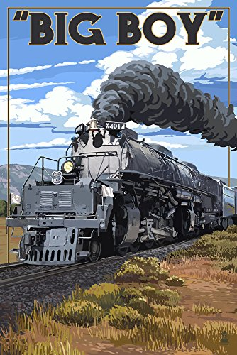 Big Boy Steam Engine 4014 (9x12 Collectible Art Print, Wall Decor Travel Poster) (Big Boy Press compare prices)