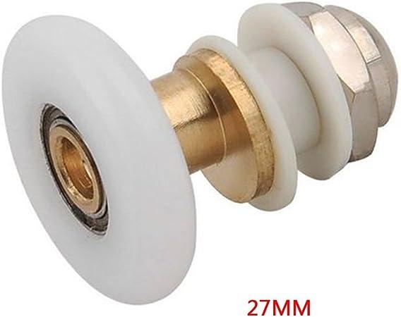Rueda de puerta corredera de cristal para lavabo, de aleación duradera (27 mm) 27 mm como se muestra en la imagen: Amazon.es: Hogar