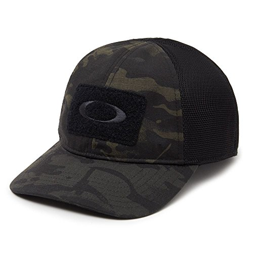 Oakley Men's SI Cotton Cap MC, Black Multicam, - Black Hat Oakley