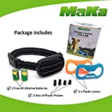MaKa Dog Barking Control, Training Collar for Small & Medium Sized Dogs- Humane, Safe, No-Shock Anti-Bark Collar - Stop Barking With Vibration & Sound Stimuli - 7 Levels Sensitivity Adjustment