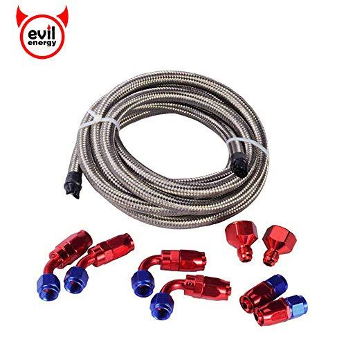 - EVIL ENERGY VC00269 Silver 10FT line+Fitting Oil hose kit