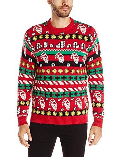 Blizzard Bay Mens Cheat Code Santa Ugly Christmas Sweater