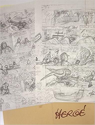 Lire Hergé - Rombaldi - pochette contenant en fac-similé un projet pour les planches 1 et 2 de Tintin et l'Alph-Art pdf, epub ebook