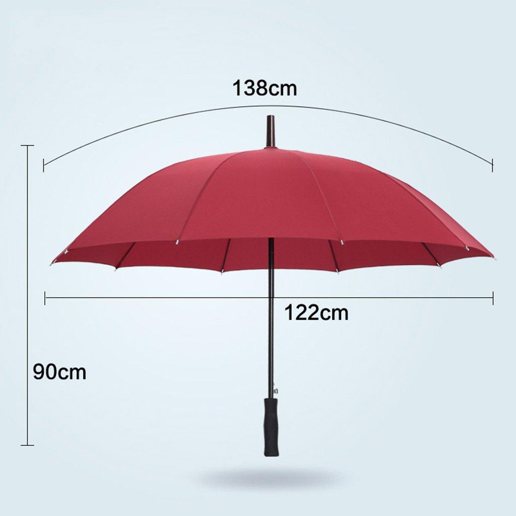 Umbrella Publicité 10 Bones Parasol à manches longues Parapluie droit Parapluie coupe-vent parapluie d'affaires parapluie ensoleillé ( couleur : E , taille : 138*122*93CM )
